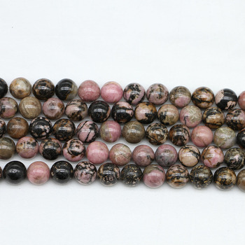 1strand/lot 4 6 8 10 12 mm Natural Stone Black Lace Rhodonite Beads Loose Spacer Bead For Jewelry Making DIY Bracelet Necklace 1strand lot 4 6 8 10 12 mm natural stone old blue sodalite round loose spacer beads for jewelry making diy bracelet wholesale