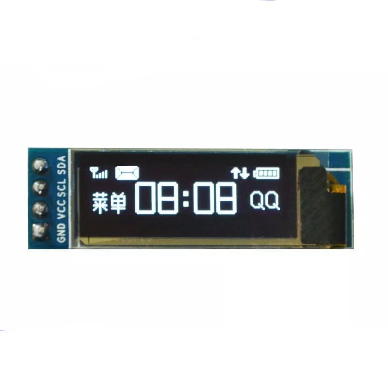 5pcs 0.91 Inch 128x32 IIC I2C OLED LCD Display Module SSD1306 Driver IC DC 3.3V 5V For Arduino PIC