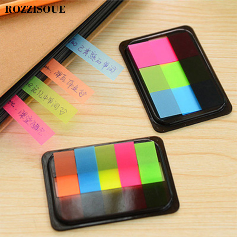 Diy Fluorescent Color Creative Office Novelty Sticky Notes Planner Stickers Page Index Memo Me Office School Supplies Stationery