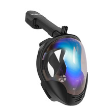 Diving Mask Snorkel Full Face Scuba 180 Degree View Snorkeling Goggle Dry Top Set  Anti-fog