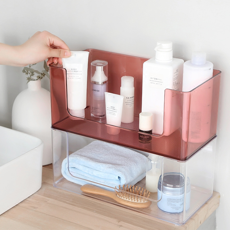 Creative Desktop Acrylic Cosmetic Storage Box Skin Care Lipstick ...
