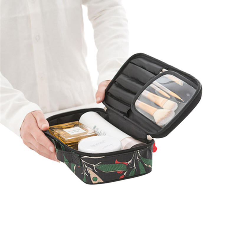 Large capacity Portable Toiletries Cosmetic Storage Bags Makeup Bag Travel Toiletry Case Brush Organizer Accessories Supplies