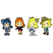 Lovelive! sol aqours tsushima yoshiko takami chika mari ohara figura de ação anime modelo de borracha keychian pingente presentes 6cm