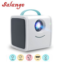 Salange Q2 Kids Video Projector Mini HD Projector 3D LED TV HD LCD Proyector AV/HDMI/USB Dual Speakers Support 1080P Home Beamer