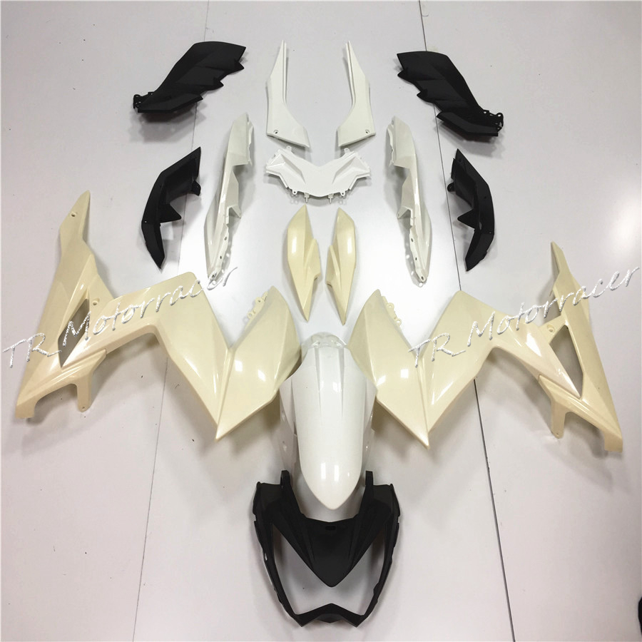 ABS Plastic Unpainted Injection Fairing Bodywork Kit For Kawasaki Ninja 250 ZX250 2008 Motorcycle Parts White