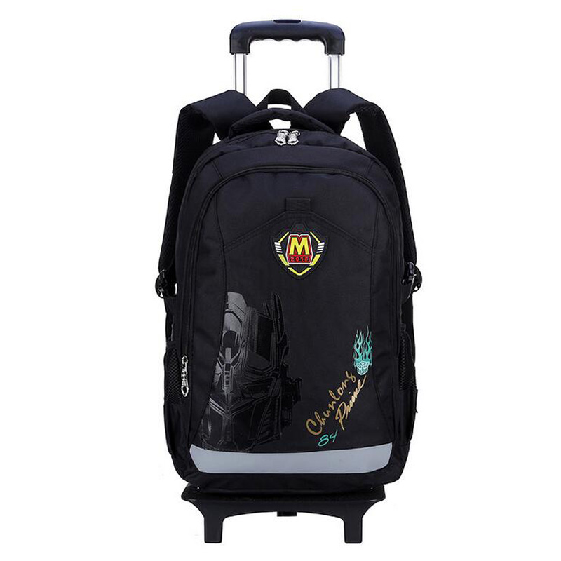 removable red wheeled backpack new arrival trolley school bag for girls and boys flash wheeled