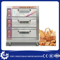 hot sell bread machine baking oven bread making machine 3layers 6pans