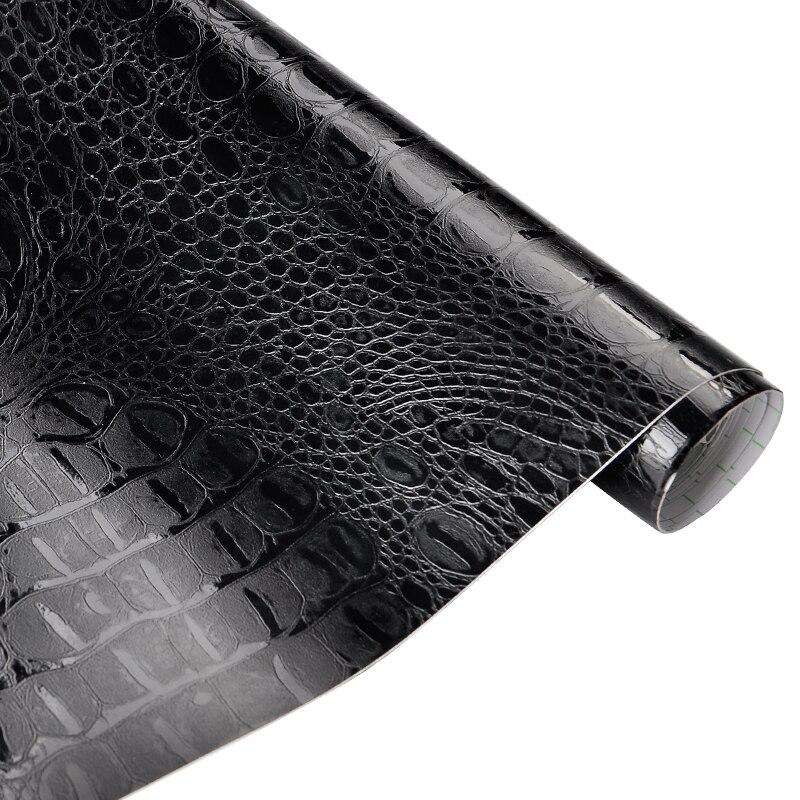 50*152 cm Crocodile Motif En Cuir Vinyle Film Étanche PVC Voiture Corps DIY Emballage Autocollant Auto Intérieur Décoration Stickers Wrap