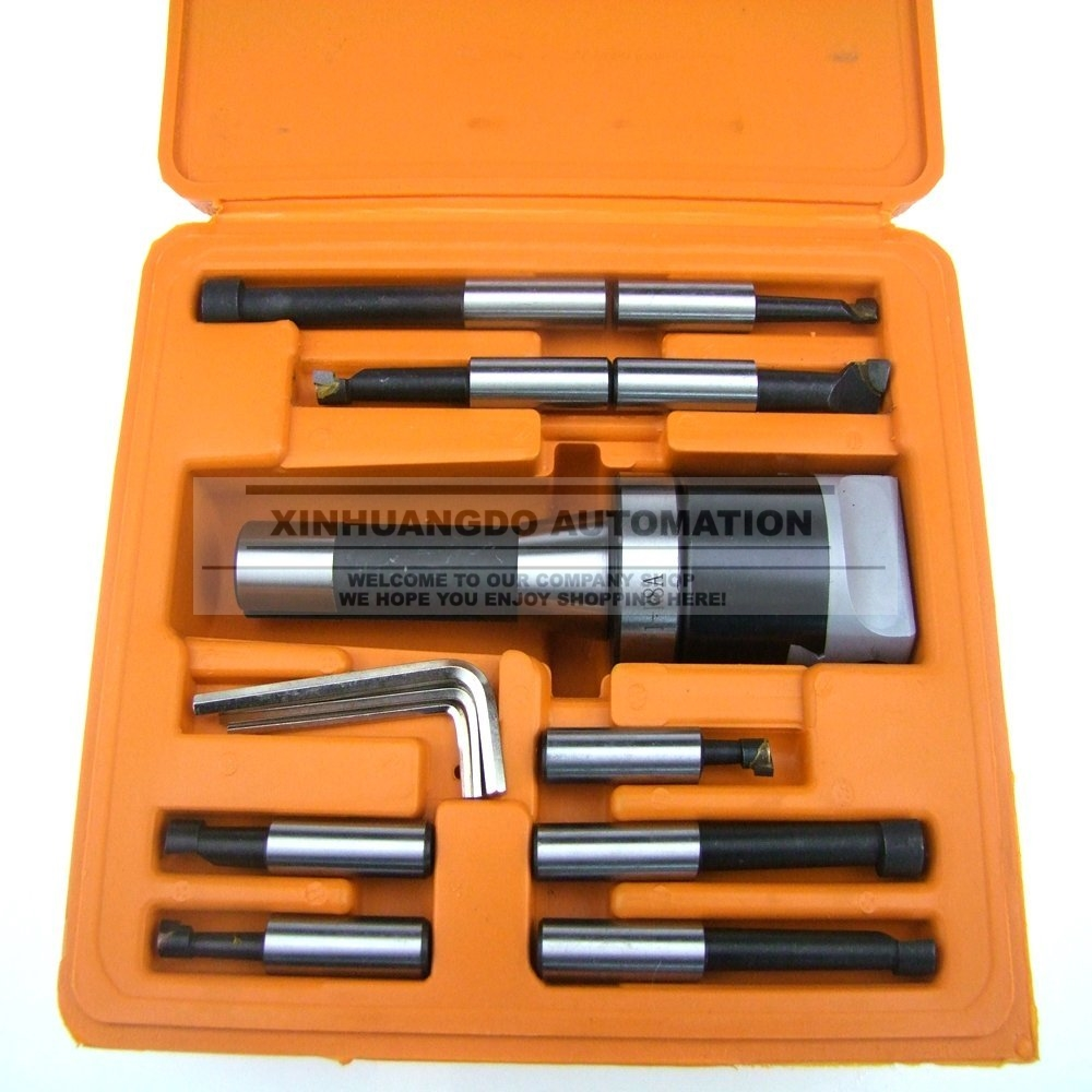 "Boring Head 9pcs 2/"" R8 Shank 1//2/"" Carbide Boring Bar Set Bridgeport Milling Set"