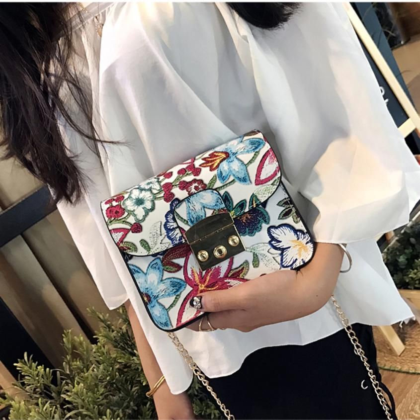 Xiniu bags for women Ethnic Embroidery Bag Vintage Shoulder Messenger Bags Women Small Phone cross body Purse bolso mujer #EW