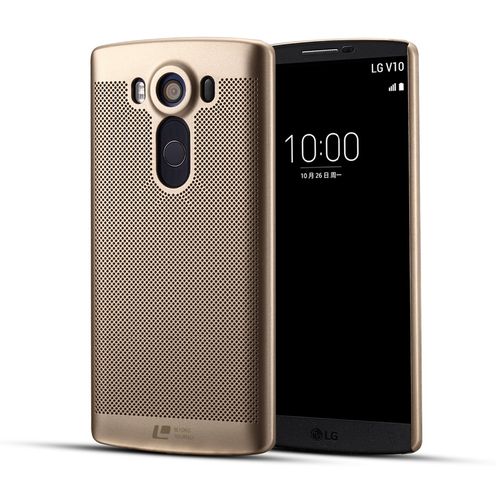 best service a46e3 ca818 Luxury brand ultra thin New grid back cover case for LG V10 cases and  covers with pc material original shell phone bag-in Fitted Cases from  Cellphones ...