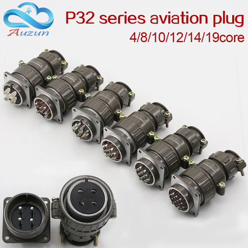Aviation Plug Socket Round Connector P32 Series 4.8.10.12.14.19core Diameter 32MM