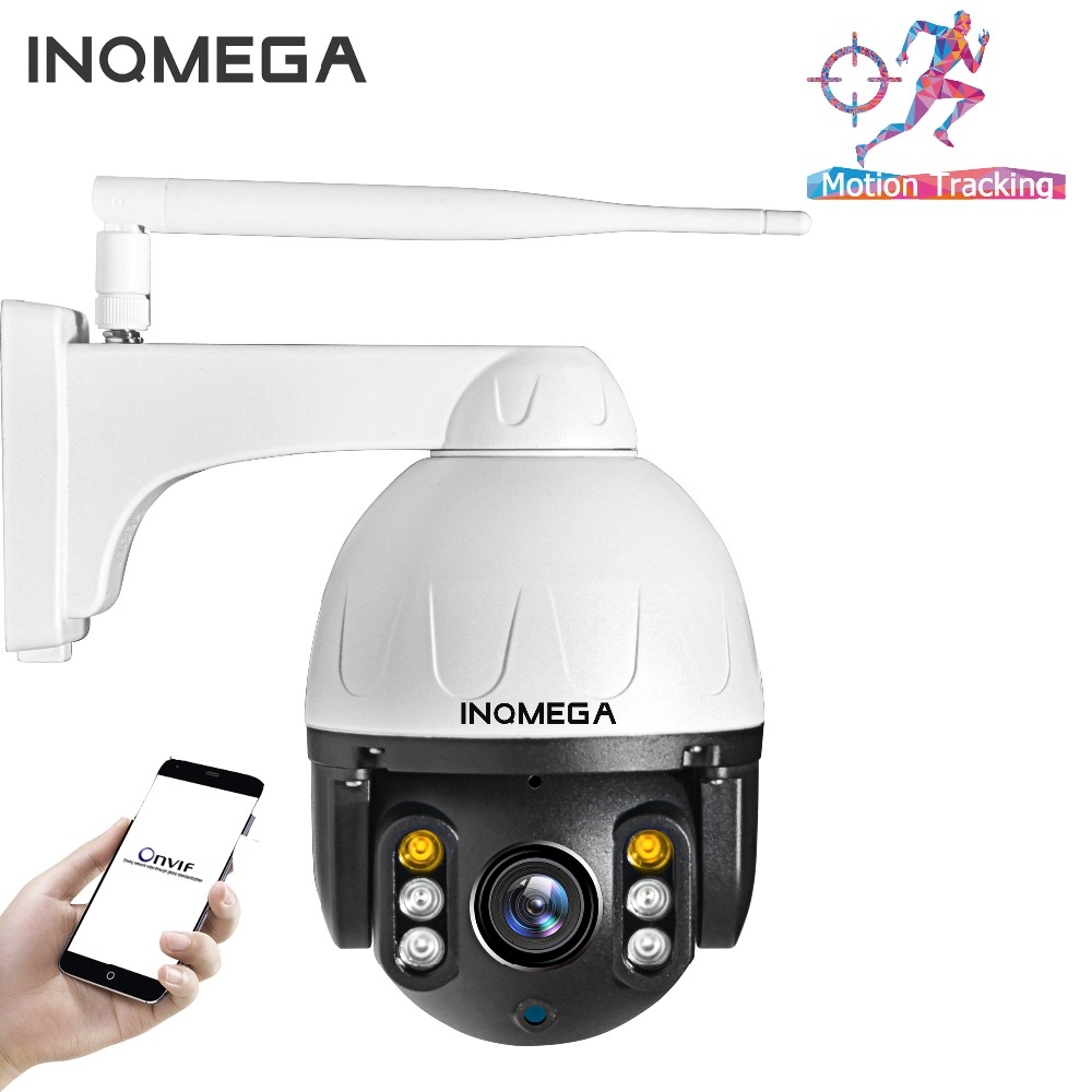 INQMEGA PTZ IP Camera Auto Tracking 1080P 2MP Outdoor Waterproof Mini Speed Dome Camera IR 30M