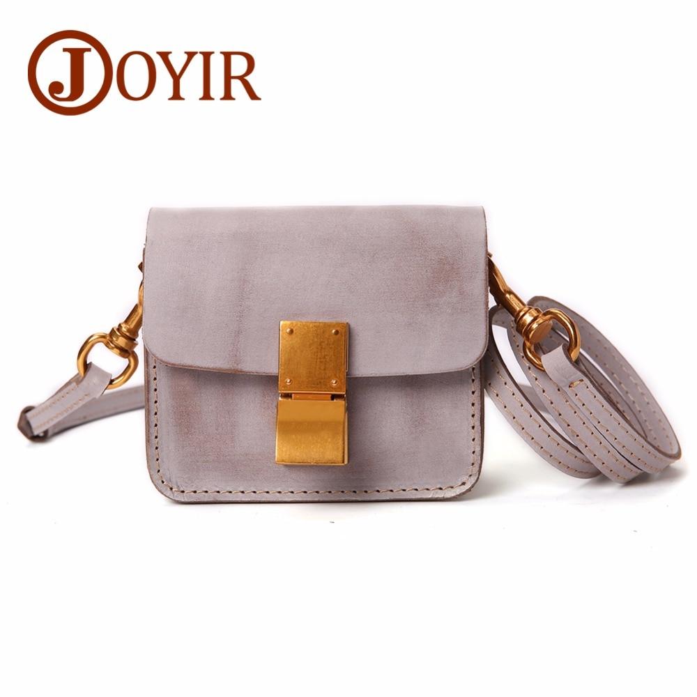 JOYIR Crossbody Bags For Women Genuine Leather Mini Messenger Bag For Girls Flap Shoulder Summer Bags Handbags Bolsas Feminina цены онлайн