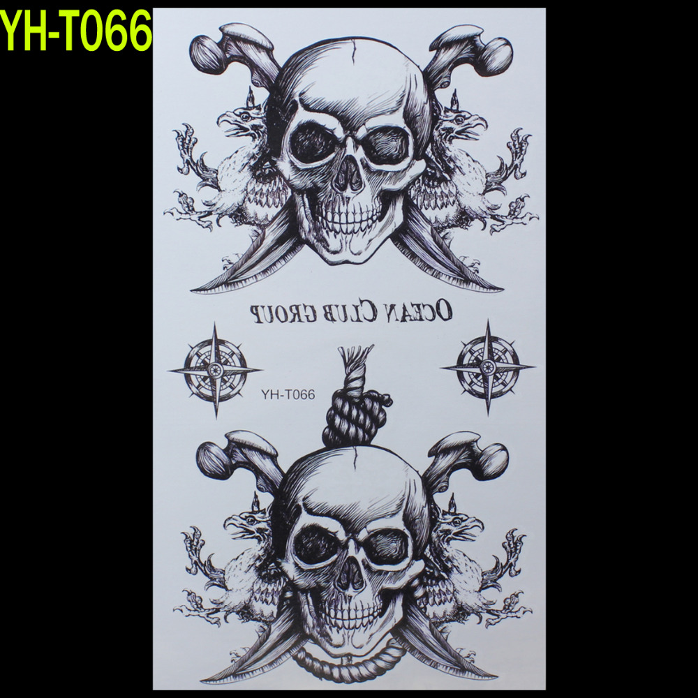 aliexpress com buy pirate skull painted body art sticker
