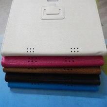 5 colores de la caja de cuero para 9.6 pulgadas 3G tableta del teléfono MTK8752 MT8752 MTK6592 MTK6580 MTK6592