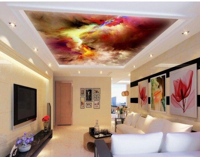 3d Decke Wandbilder Wallpaper Bunten Himmel Angepasst Tapete Fur Zimmer