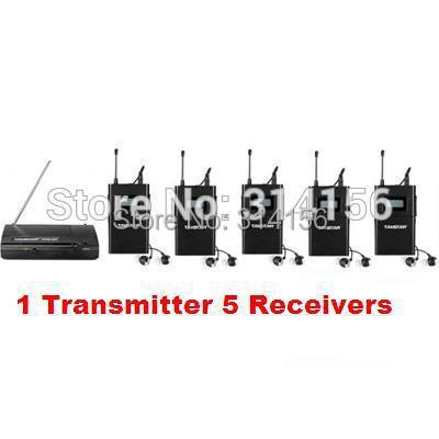 Takstar wpm 200/ wpm200 UHF Wireless Monitor System use for recording studio/on stage Monitoring 1 Transmitter +5 Receivers-in Earphones from Consumer Electronics    1