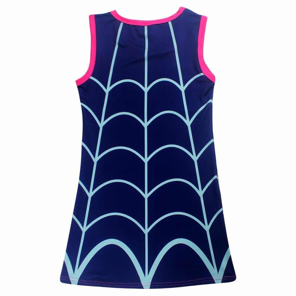 Moana/платье летние платья без рукавов для девочек детская одежда с героями мультфильмов vampyina Vestido праздничное платье принцессы Одежда для детей DS9