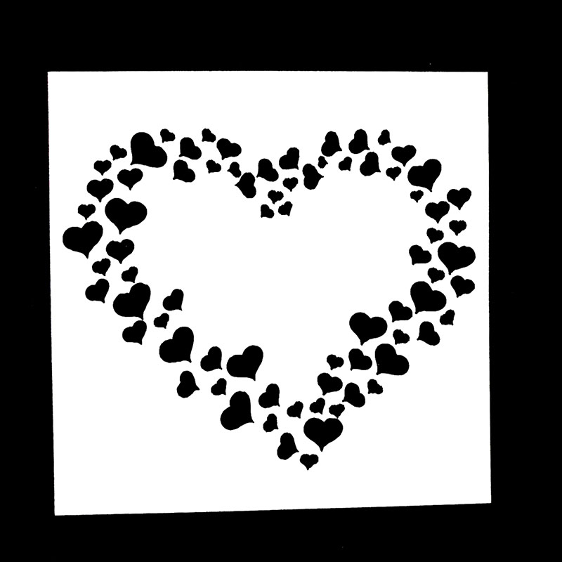 1PC Large Small Love Heart Shaped Reusable Stencil Airbrush Painting Art DIY Home Decor Scrap Booking Album Crafts
