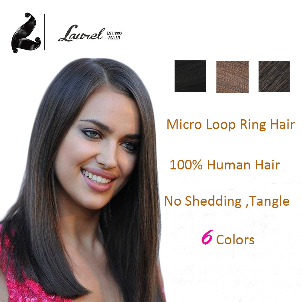 Micro Loop Ring Beads font b Hair b font Extensions 16Inch 40cm Colored font b Hair