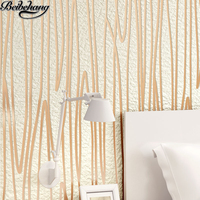 Beibehang High End Luxury Three Dimensional Embossed Deerskin Velvet Wallpaper In The Wallpaper Of The Dining