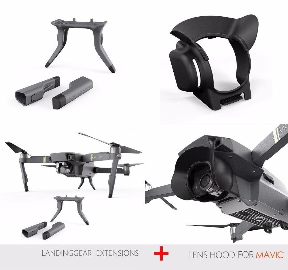 Brillante Pgytech Lens Hood + Laning Di Estensione Attrezzi Gamba Per Dji Mavic Pro Parasole Glare Scudo Giunto Cardanico Ombra