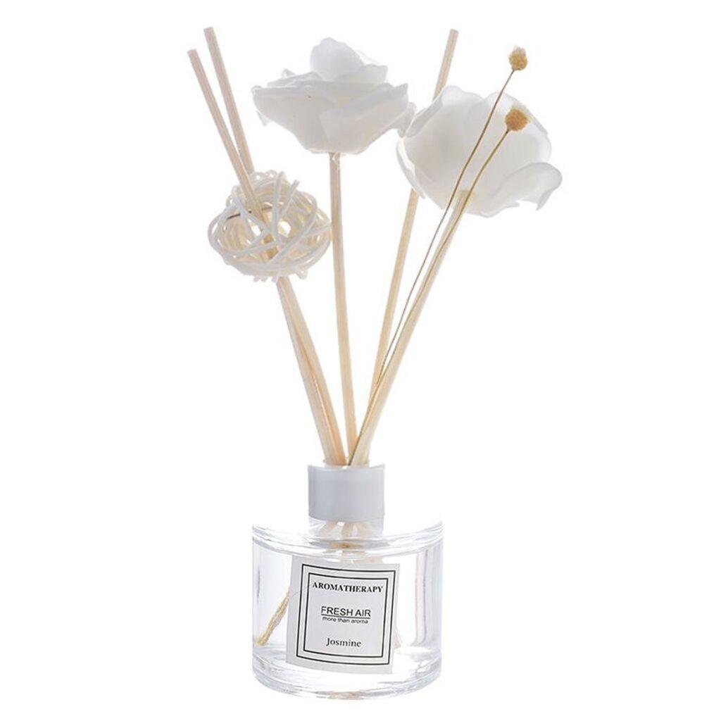 Haus & Garten Fein Difusor De Aroma Reed Öl Diffusoren Mit Natürlichen Weißen Sticks Glas Flasche Und Duftenden Öl Sage Stick 19apr22 P40