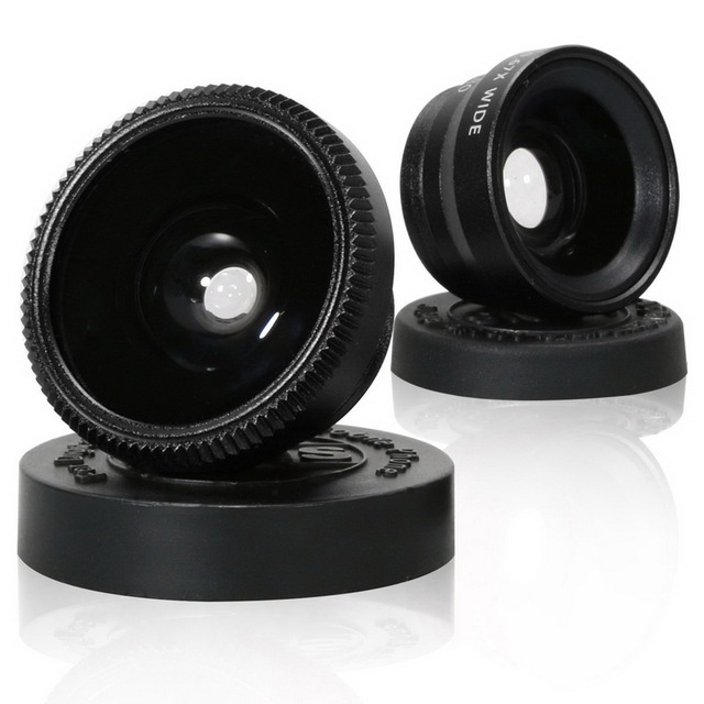 3 In 1 Wide Angle Macro Fisheye Lens Kit Universal Mobile Phone Clip Fish Eye Lenses for Iphone Samsung Sony Xiaomi Mi6 Android