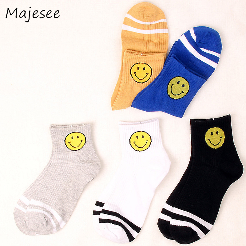 Harajuku Men Funny Sock Mens Cartoon Cute Socks New Japanese Fashion Male Cotton Students Warm Breathable 5 Colors School Style