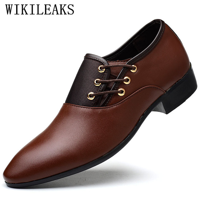 48ade116efc US $18.23 49% OFF|designer men shoes luxury brand oxford shoes for men  pointed toe dress shoes leather wedding shoes man italy sapato masculino-in  ...