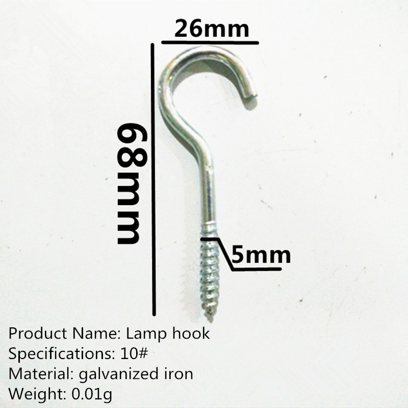 Lamp hook Iron question mark 9 word eye bolts hook hook since tapping 10 # iron wood screws hook