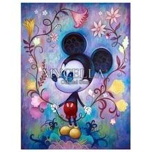 802d4cf312 Cartoon 5D Diamond Painting Kit Mickey Mouse Diamond Embroidery Cross  Stitch DIY Rhinestone Mosaic Full Square