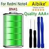 Aibike Mobile Phone Battery 4450mAh BN41 For Xiaomi Hongmi Note 4 Redmi Note 4 Battery High