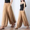 Мори девушка литературный винтаж palazzo брюки женщины случайные свободные шелковые шаровары широкую ногу брюки pantalon femme