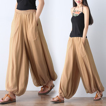 high waist trousers women 2018 mori girl literary vintage palazzo pants casual loose silk bloomers wide leg pants pantalon femme