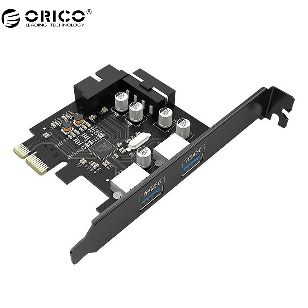<font><b>ORICO</b></font> PME-4UI 2-Port <font><b>USB3.0</b></font> <font><b>PCI</b></font>-E Expansion Card 15 Pin SATA to Big 4 Pin Power Cord image