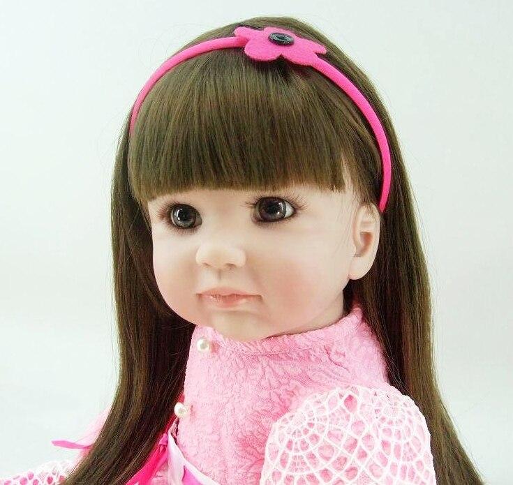 22 56 cm reborn baby poppen baby prinses peuter roze jurk speelgoed baby meisje realistische brinquedos Speelgoed geschenken collectie - 4