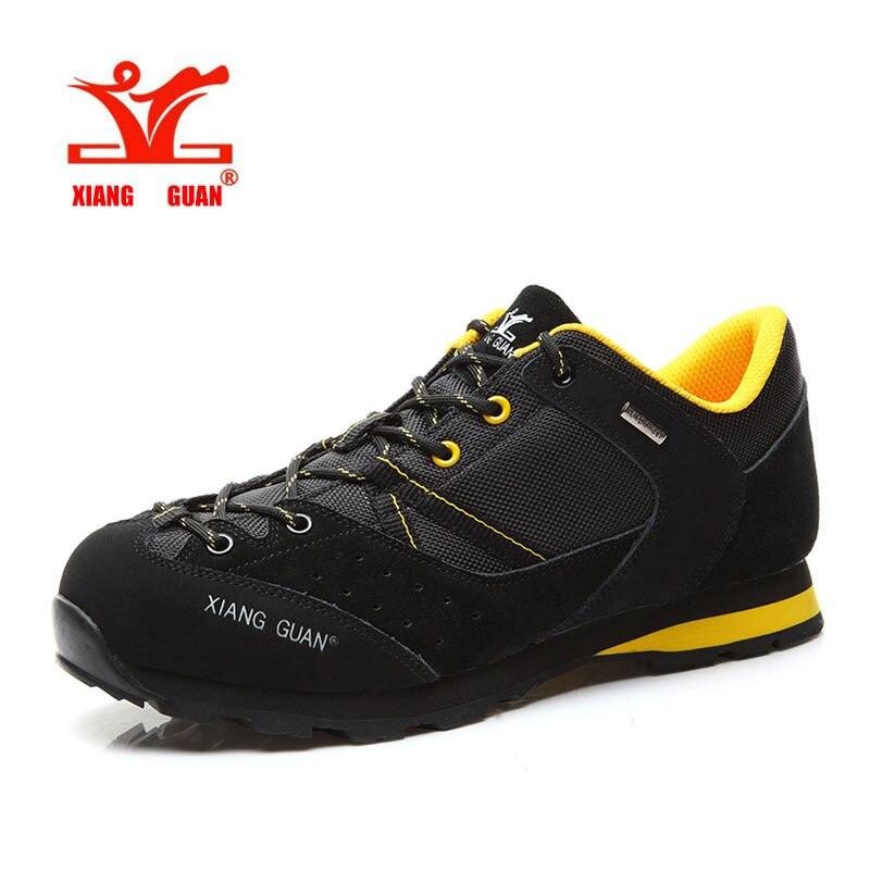 ФОТО XIANG GUAN Hiking Shoes  For Men Walking Sneakers Climbing Man Trekking Anti Skid Retro 6 Colors Free Shipping