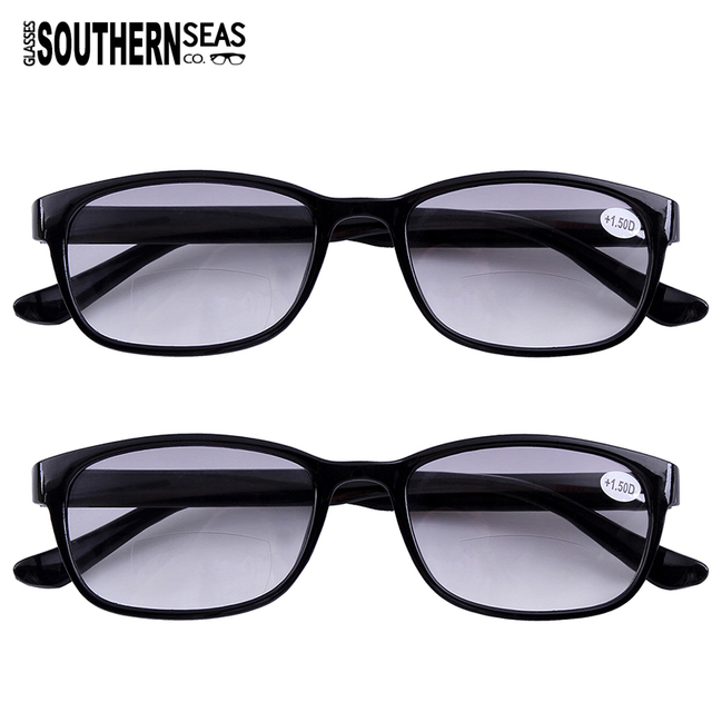 3e607bb2b4 2x Tinted Bifocals Reading Glasses Mens Womens Sun Readers Eyewear Office  Home Eyeglasses +1.00 to +4.00 Lens Black Brown