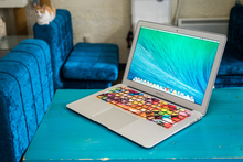 Free shipping Removable Diy colorful rainbow teaching word waterproof and dustproof keyboard stickers for computer mackbook air