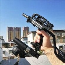 все цены на 2019 Laser Slingshot G5 Hunting Accessories Fishing Slingshot Shooting Catapult Bow Arrow Rest Bow Powerful Sling Shot Crossbow