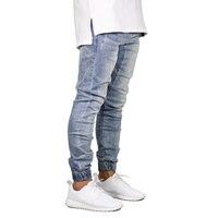 Fashion Stretch Men Jeans Denim Jogger Design Hip Hop Joggers For Men Y5036
