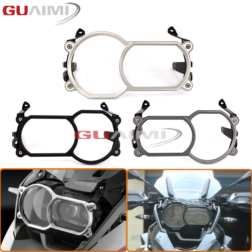 For BMW R1200GS LC 2013-2016 R1200 GS Adventure LC 2014-2016 Motorcycle Headlight Guard Protector 2 With Quick Release Fastener цена