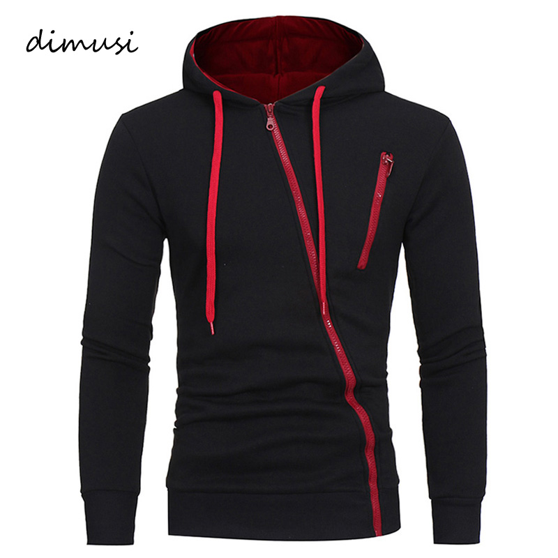 DIMUSI Mens Hoodies Fashion Mens Zipper Sweatshirt Slim Jackets Mens Hip Hop Hooded Cardigan Sportswear Tracksuit Coats Clothing