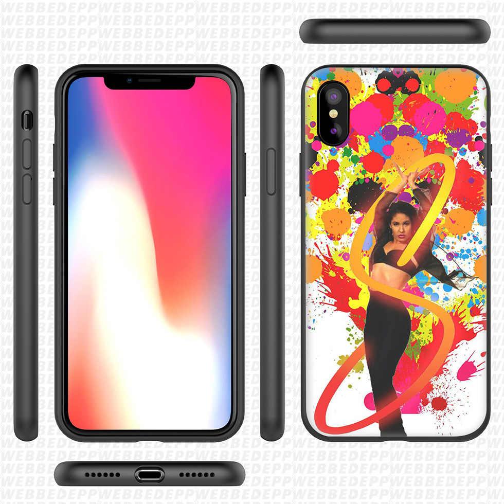 WEBBEDEPP Selena Quintanilla funda de silicona suave para iPhone 11 Pro Xr Xs Max X o 10 8 7 6 6S Plus 5 5S caso 8 Plus