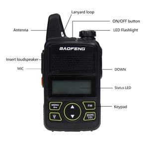 Image 2 - Baofeng BF T1 양방향 라디오 미니 휴대용 uhf 400 470 mhz 20 채널 울트라 씬 드라이빙 호텔 민간인 워키 토키 햄 라디오