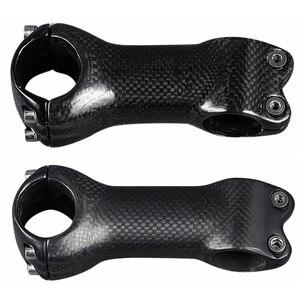 Матовый/глянцевый полностью 3K карбоновый стержень дорожный вынос руля для горного велосипеда части для велосипеда зажим для руля 31,8 мм дли...