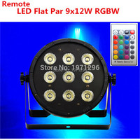 8pcs/lot Free shipping hot sale Wireless remote control Disco DJ LED SlimPar 9x12W RGBW 4IN1 Wash Light Stage Uplighting