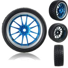 4 stks Rubber RC Flat Racing Banden Tyre Wheel 12-spoke Velg Voor 1:10 On-Road Intelligente model Auto(China)